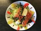 Salade Ardéchoise au chèvre chaud